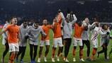 Die Niederländer feiern den Einzug in die Endrunde