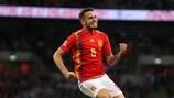 Saúl Ñíguez bejubelt seinen Ausgleich gegen England