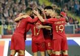Portugal celebra su ventaja en Polonia