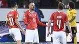 """Haris Seferović fez um """"hat-trick"""" na vitória da Suíça sobre a Bélgica"""