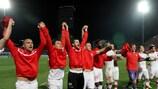 A Suíça venceu por 2-1 em Tirana e comemorou o apuramento para o Campeonato do Mundo