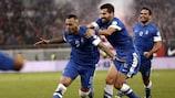 Kostas Mitroglou ha firmato una doppietta contro la Romania