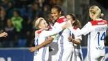 Lyon fête le but de Wendie Renard contre l'Ajax