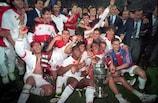 L'AC Milan fête sa victoire en Grèce
