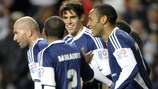 Zinédine Zidane, Daniel Alves, Kaká and Thierry Henry take part in the Match Against Poverty