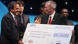 UEFA awarded its 2007 charity cheque to CPISRA in Monaco