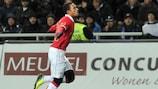 Memphis Depay wheels away after scoring for PSV