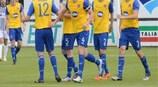 El Dundalk celebra el tanto ante el Jeunesse Esch