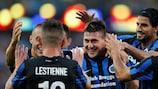 Club Brugge jubelt über Nicolas Castillos Tor gegen Brøndby