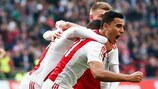 Anwar El Ghazi feiert einen Treffer am letzten Wochenende gegen Excelsior