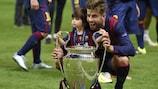Gerard Piqué ganhou o seu terceiro título da UEFA Champions League em Berlim