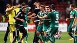 Rapid Wien feiert das Weiterkommen gegen Ajax