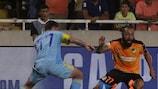 """Dmitri Shomko, do Astana, em acção num histórico """"play-off"""" para a sua equipa"""
