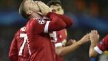 Wayne Rooney celebra o seu golo inaugural