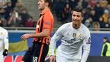 Cristiano Ronaldo dopo il quarto gol contro lo Shakhtar