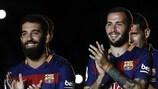 Im Kader von Titelverteidiger Barcelona stehen jetzt auch Arda Turan und Aleix Vidal