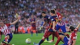 Lionel Messi in einem Spiel gegen Atlético Madrid