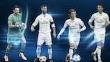 Gianluigi Buffon, Sergio Ramos, Luka Modrić e Cristiano Ronaldo foram os premiados