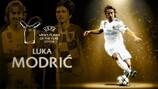 Luka Modrić vence prémio de Jogador do Ano da UEFA