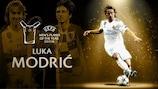 Luka Modrić gana el premio al Mejor Jugador del Año de la UEFA