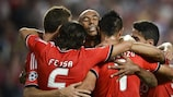 Benfica will be looking for more to celebrate when they take on Olympiacos