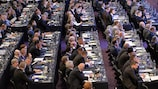 Delegates from UEFA's 54 member associations will discuss and vote on European football issues