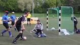 Un match de football pour aveugles en Allemagne