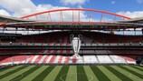 The Estádio do Sport Lisboa e Benfica antes de la final de la UEFA Champions League 2013/14 entre el Real Madrid y el Atlético de Madrid
