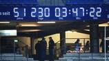 Die berühmte Uhr, die anzeigt, wie lange der HSV schon in der Bundesliga spielt
