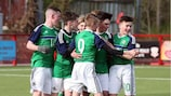 Northern Ireland's youngsters celebrate a goal