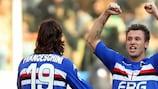 Antonio Cassano (right) has signed a permanent contract with Sampdoria
