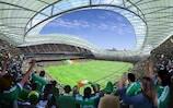 Das Stadion Lansdowne Road in Dublin