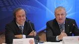 Michel Platini and Grigoriy Surkis saw the approval of the match schedule as a big step forward
