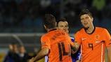 Klaas-Jan Huntelaar plundered a hat-trick in San Marino