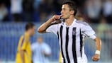 Partizan's Saša Ilić celebrates scoring