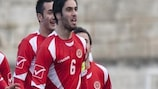 Rowen Muscat (right) was on target for Malta