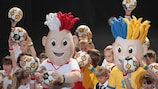 Les mascottes de l'UEFA EURO 2012