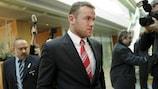 Wayne Rooney lors de son audience à l'UEFA