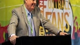 William Gaillard speaks to the FSE-organised European Football Fans' Congress