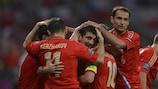 Alan Dzagoev abriu caminho para o triunfo da Rússia