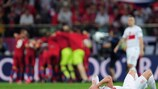 The Poland players could not hide their agony