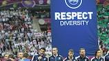 Italy captain Gianluigi Buffon gives his Respect Diversity message