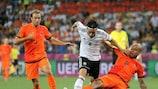 Szene aus dem Spiel Deutschland gegen die Niederlande