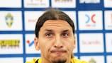 Sweden captain Zlatan Ibrahimović in thoughtful mood