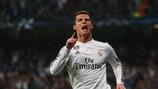 Cristiano Ronaldo celebrates his second, record-breaking goal