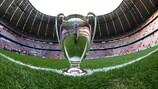 In der Fußball Arena München wird die neue Version der UEFA-Champions-League-Hymne erklingen