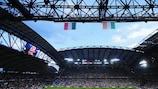Italia y la República de Irlanda jugaron el 18 de junio en el Estadio Municipal de Poznan