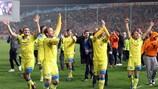 L'APOEL festeggia lo storico successo contro il Lione
