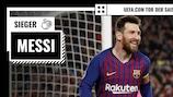 Lionel Messi hat die Abstimmung zum UEFA.com Tor der Saison gewonnen