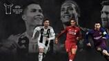 Cristiano Ronaldo, Virgil van Dijk et Lionel Messi